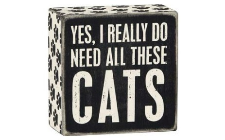 yes, i really do need all these cats wooden sign