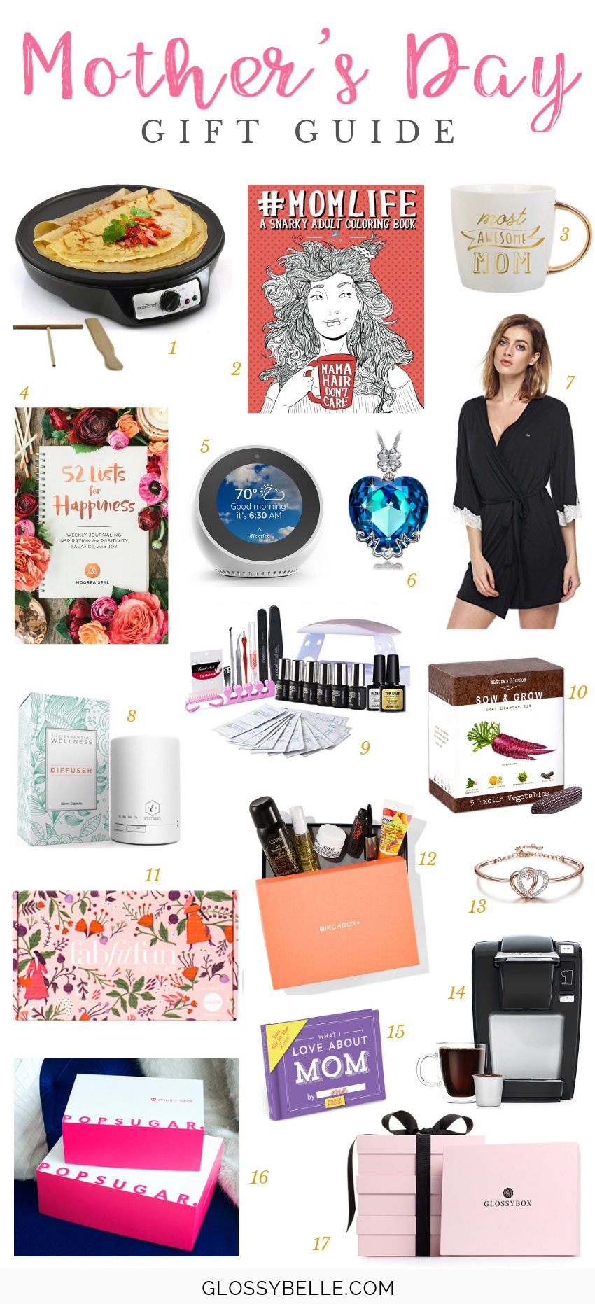 With Mother's Day just around the corner, you might be left scratching your head as to what to get your mom to show her how much she means to you. Every mom deserves the very best so here are 17 fun gift ideas you can buy to spoil your mom this Mother's Day! | mother's day gift guide | mother's day gifts | presents | gifts for moms | holiday gift guide | mum #giftguide #giftideas #giftsforher #mothersday #momlife #holidaygifts