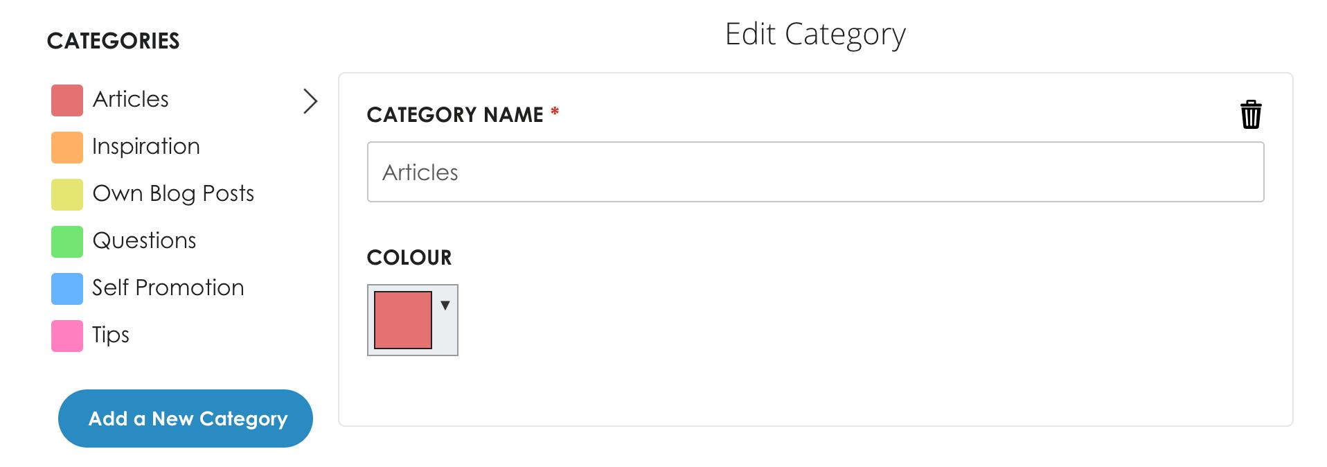 Smarterqueue categories