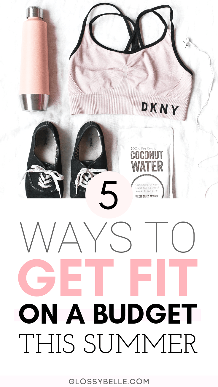 Working out and taking control of your health doesn't have to cost an arm and a leg.  Here are 5 fun and affordable ways you can get fit on a budget so you can feel and look your best this summer. | motivation | stay fit | healthy habits | summer body | get in shape #ad #fitness #fitnessmotivation #fitnesstips #fitnessgoals #workout #exercise #healthylifestyle #health #wellness #savingmoney #budgeting #frugal