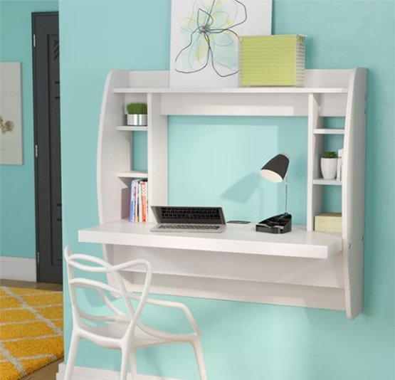 wall-mounted floating desk