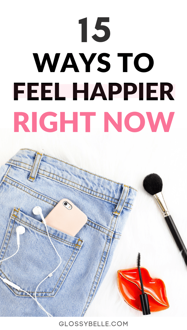 We all have days where we feel bummed out, anxious, sad, or depressed.Here are 15 ways to easily boost your mood and feel more joy and happiness right now so that you can start feeling your best again! | monday blues | improve your mood | how to feel happier | how to feel happy #anxiety #selfcare #relaxation #wellness #health #happiness #mood #inspiring #inspirational #depression #mentalhealth