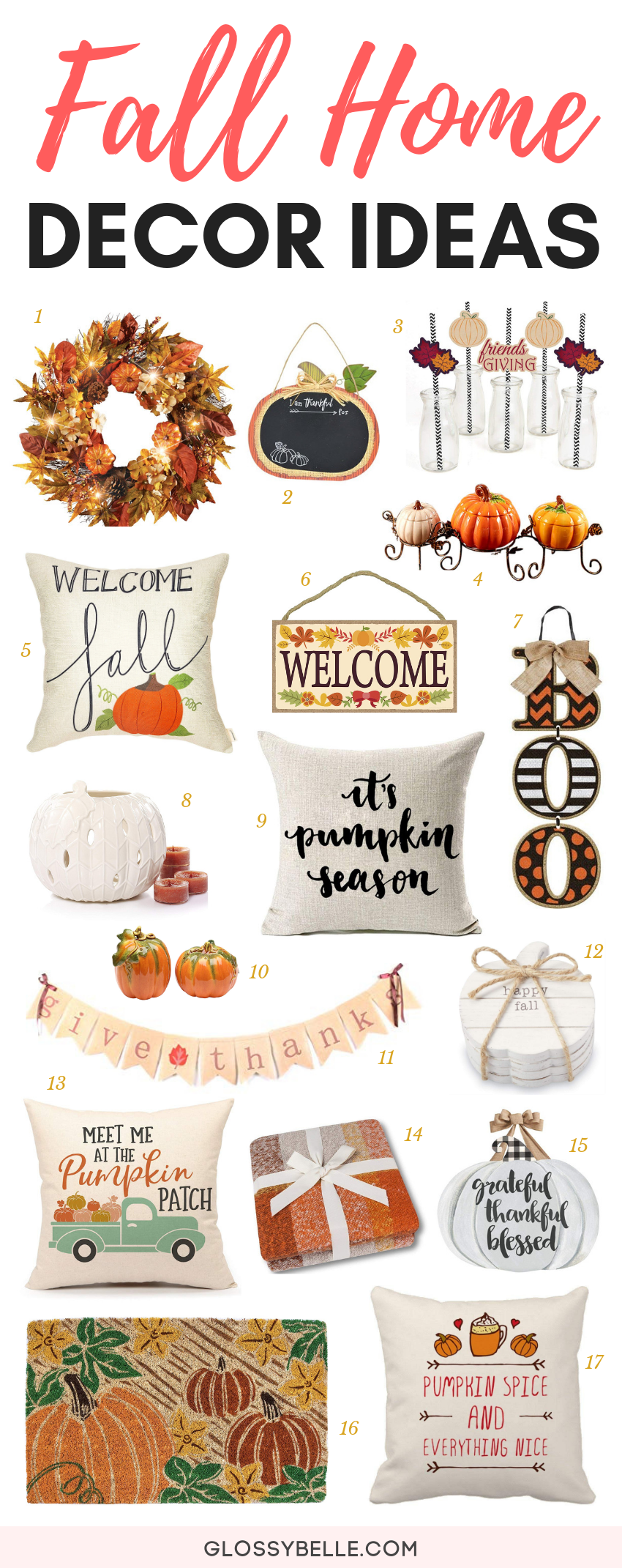 With fall officially upon us, it's time for all things festive, fun, and cozy!If you've been looking for some fall inspiration on how to decorate your home this autumn season, here are over 20 fun and festive fall decor ideas. | fall home decor | fall home decoration | autumn inspiration | pumpkin | home decor ideas | fall decorations #falldecor #fallhomedecor #homedecor #homedecorideas #fall #pumpkin #fallfun #fallhome #autumn #autumndecor #falldecorideas #decoratingideas #falldecoratingideas