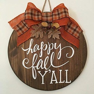 happy fall y'all door sign