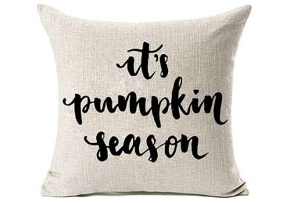 it's pumpkin season pillow cover