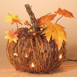 light-up twig pumpkin