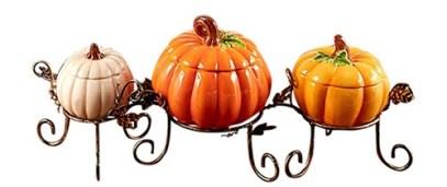pumpkin centerpiece bowl set