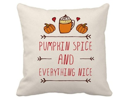 pumpkin spice and everything nice pillow
