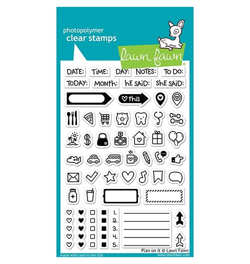 Lawn fawn clear plan on it stamps