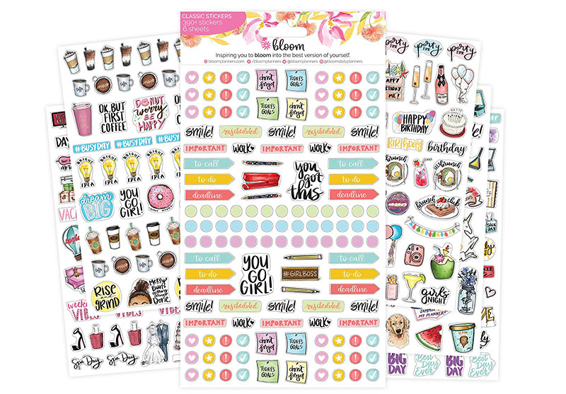 bloom planner stickers
