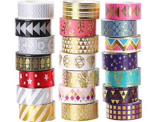 foil washi tape set