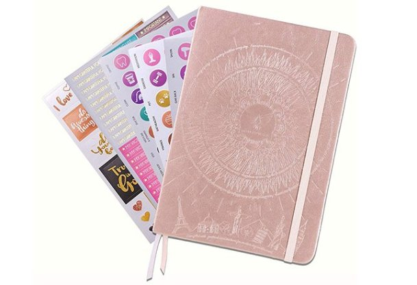 law of attraction rose gold daily planner