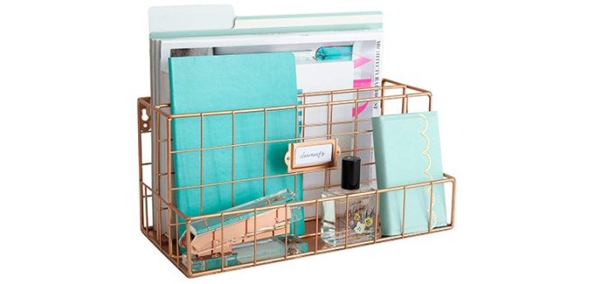rose gold desk organizer