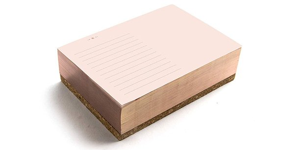 rose gold notepad