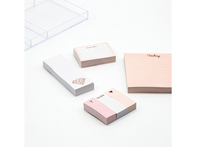 rose gold sticky note set