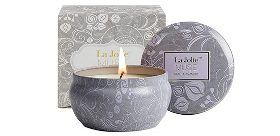 LA JOLIE MUSE Scented Candles Blue Lotus Aromatherapy Soy Wax Candle