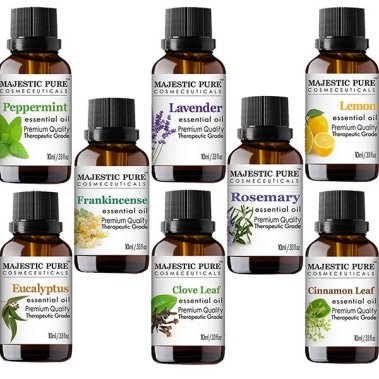MAJESTIC PURE Essential Oils Set for Aromatherapy and Diffuser