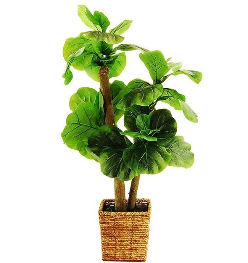 Artificial Fiddle-Leaf Fig Tree With Basket
