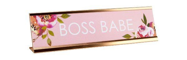 boss babe desk plate