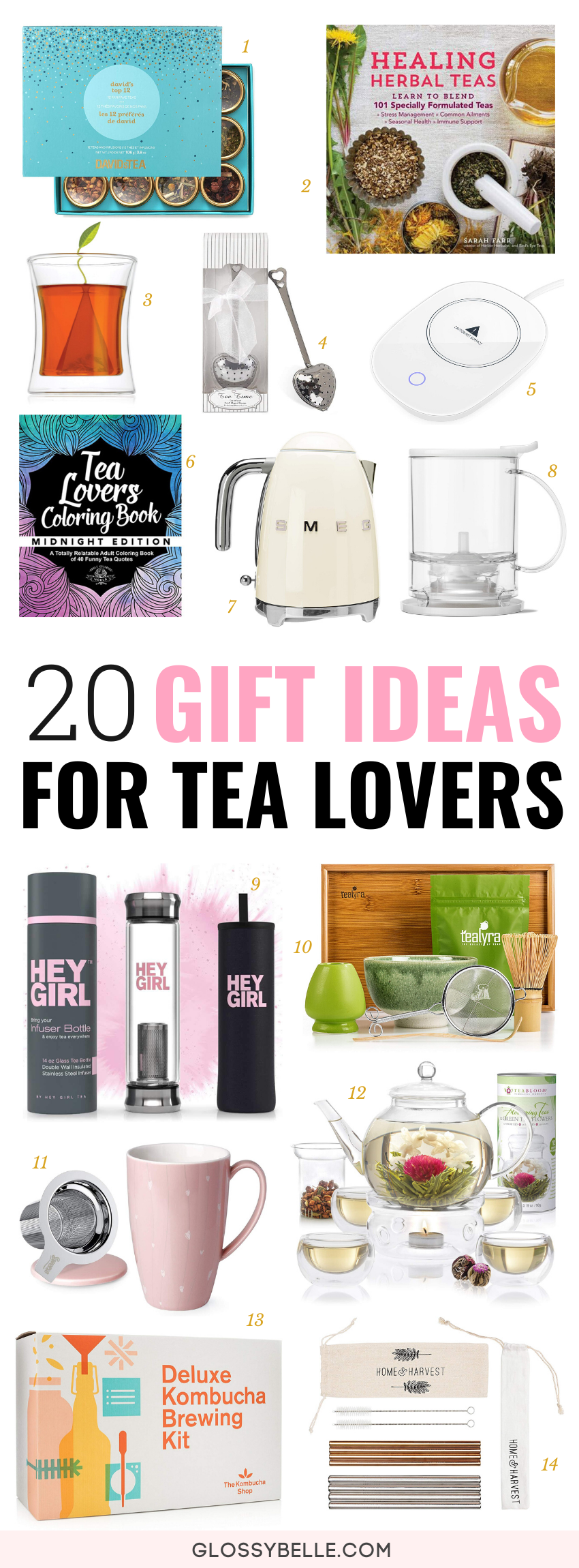 Looking for a thoughtful gift for the tea obsessed person in your life? Here are 20 great Christmas gift ideas for tea lovers. | healthy gifts | christmas gifts | gift ideas | christmas gift guide | holiday gifts | relaxation | health and wellness | stress relief | self-care gifts | detox | caffeine #giftguide #christmasgifts #giftideas #tea #tealover #wellness #health #selfcare