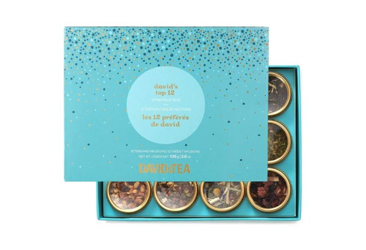 DAVIDsTEA Top 12 Tea Sampler Gift Set