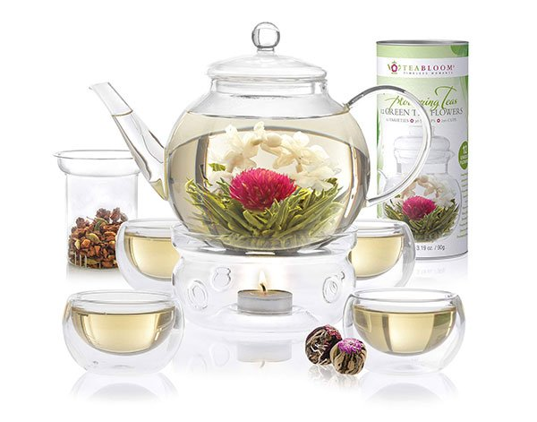 Teabloom Glass Teapot Gift Set