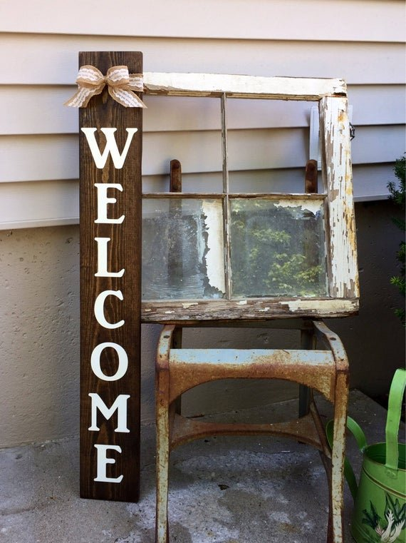 Rustic Welcome Porch Sign
