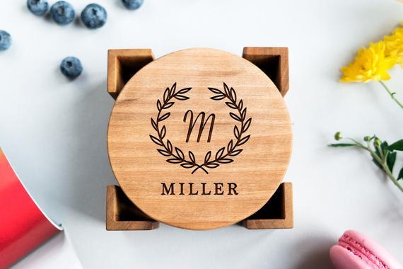 Custom Engraved Wooden Coasters
