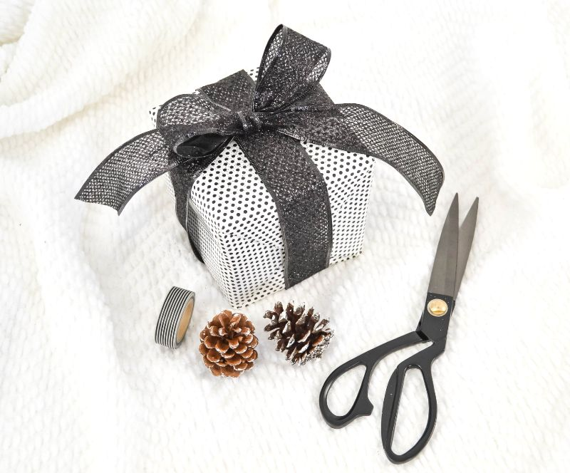 christmas presents with scissors
