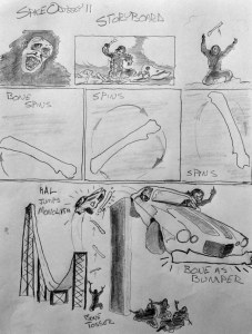 A storyboard page from Roger Corman's proposed sequel.