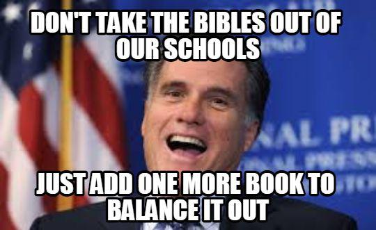 mitt romney school scriptures meme