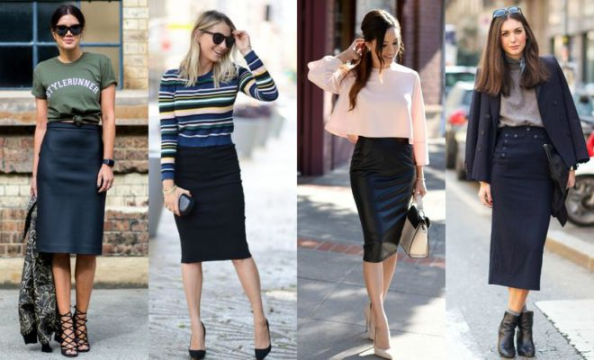 55 Amazing Outfits With Black Pencil Skirts