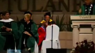 Behind The Scene At The Tulane University Speech 2009