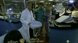 "Ellen On The Set Of ""ER"""