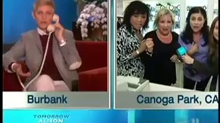Ellen Surprises a Viewer Live at Work Feb 25 2014