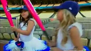 Sophia Grace And Rosie At Dodger Stadium May 17 2012