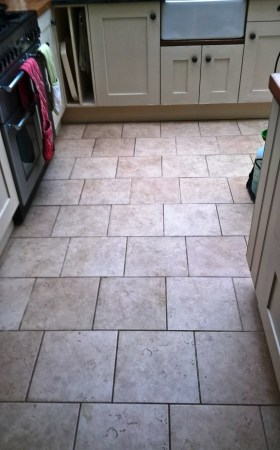 Ceramic Tiled Floor Westmancoate before cleaning