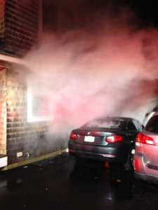 Photos: Gloucester Fire Department Extinguishes Car Fire