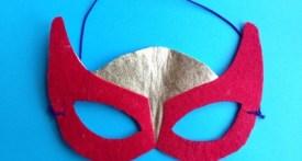 diy superhero mask, make superhero mask, no sew superhero mask