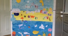 seaside preschool art activity