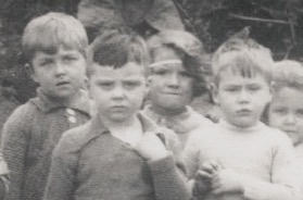 Enlarged extract from Pam Brogan photo of Kingsholm infants c1940s