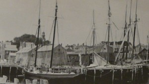 Our Steeple viewed from the harbor, circa 1890