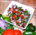 Pico de Gallo brings a pop of color and flavor