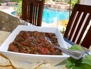 The result is a yummy, spicy salsa that can be enjoyed right away.