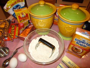 Assemble everything, and mix the dry ingredients first