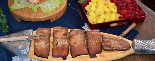 This salmon makes a welcome appearance for parties and holiday meals at Glover Gardens.