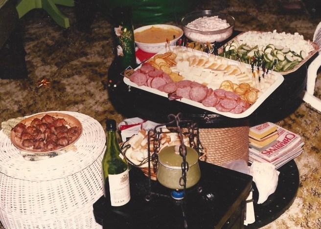 Christmas Eve feast at our beach house circa 1978-ish.