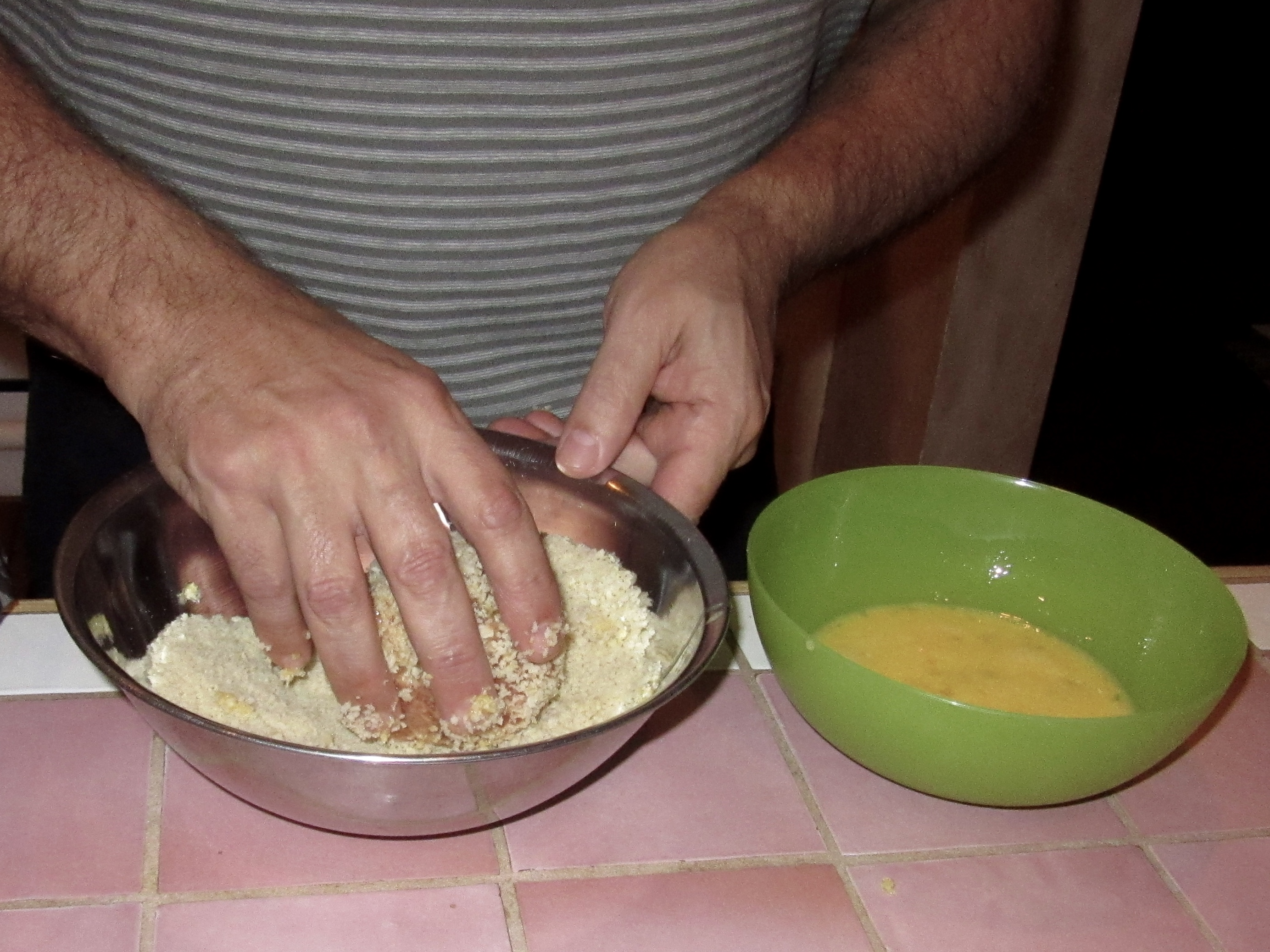 Dip in egg, then roll in Panko to completely cover.