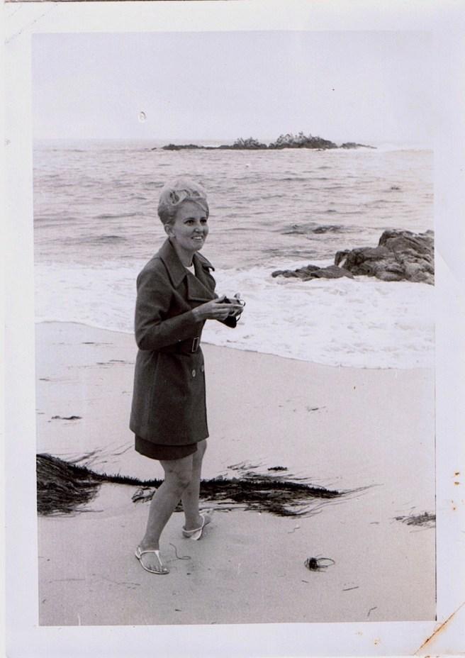 Mom with Camera on California Coast
