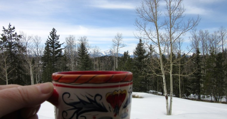 Simple Pleasures: Steaming Mug of Tea on a Cold Day